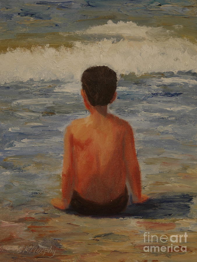 Child Painting - Listening to Mother Earth by Colleen Murphy