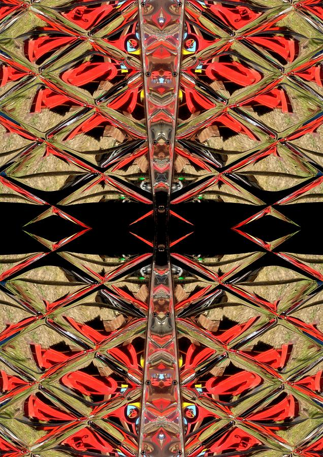 Red Digital Art - Lit0911001005 by Tres Folia