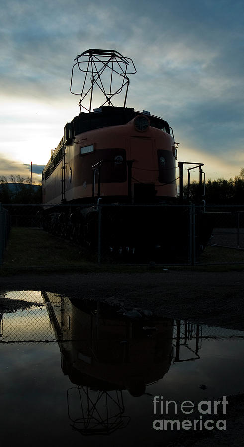 Milwaukee Road Photograph - Littel Joe Reflections by Tim Mulina