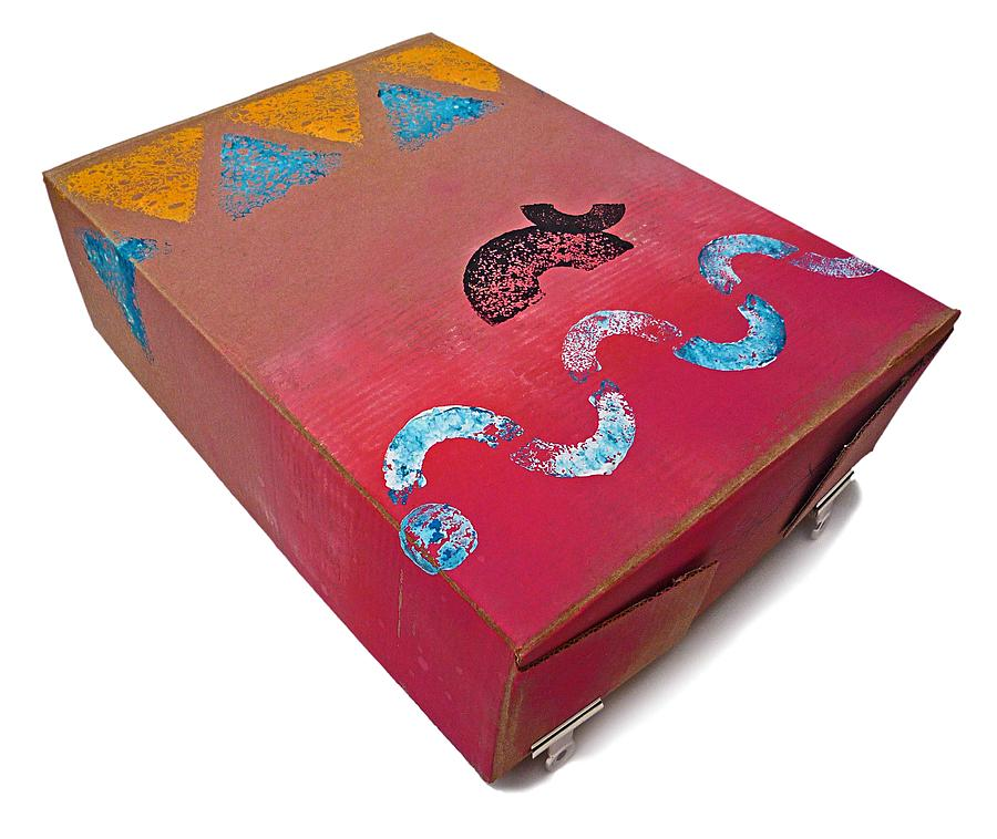 Native Painting - Little Big Horn Box by Charles Stuart