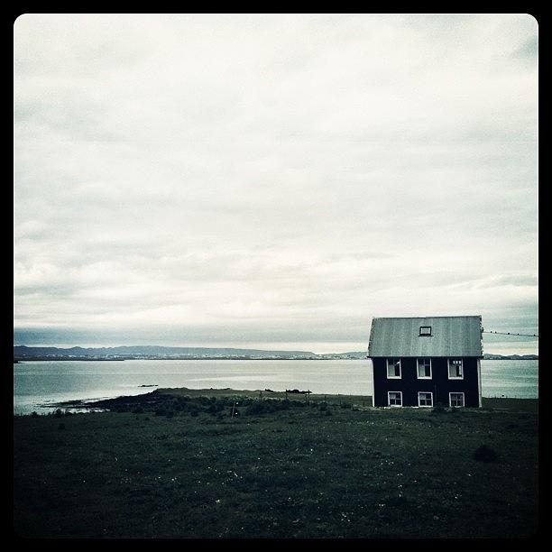 Iceland Photograph - Little Black House By The Sea by Luke Kingma