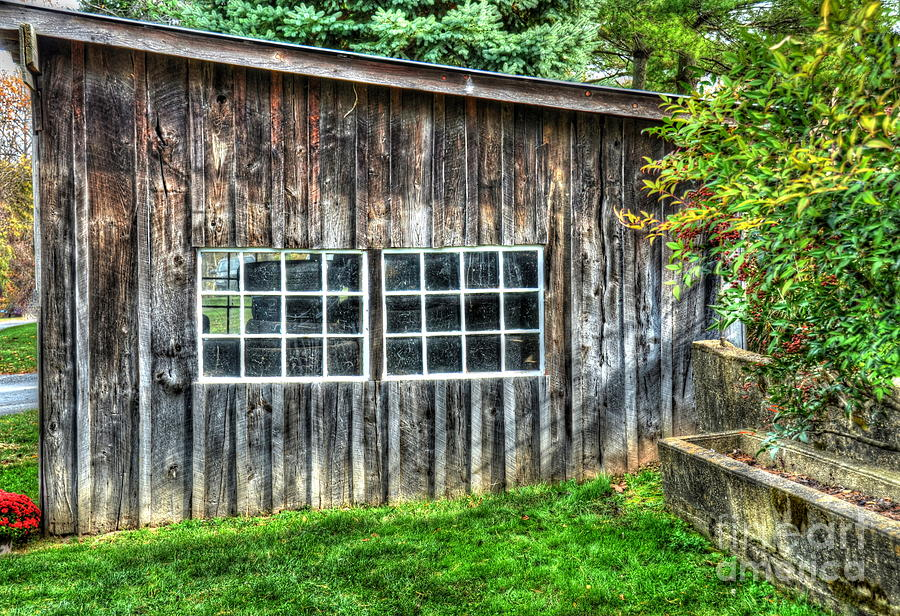 Shed Photograph - Little Brown Shed by Debbi Granruth
