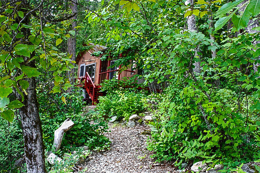 Canadiana Photograph - Little Cabin In The Woods by Infinitimage Canada