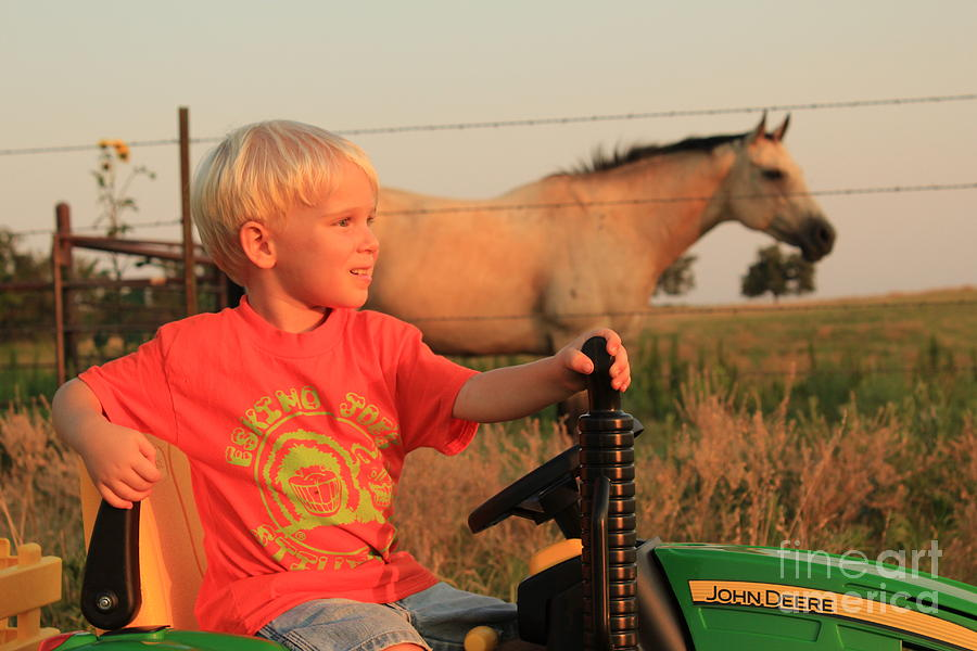 Oklahoma State University Photograph - Little Farmer by Anthony Johnson