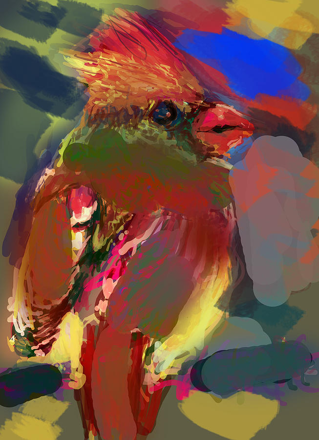 Bird Digital Art - Little Friend by James Thomas