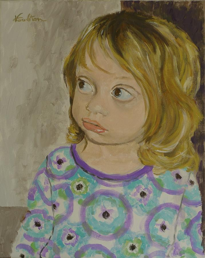 Portraits Painting - Little Gabby by Veronica Coulston