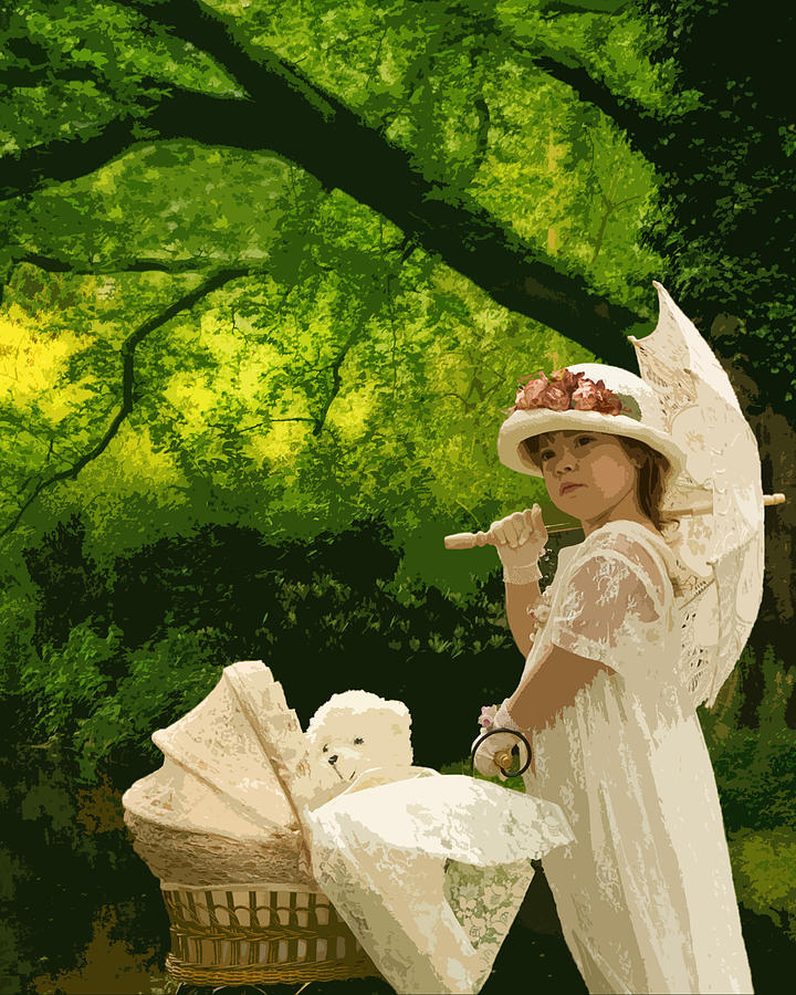 Education Photograph - Little Girl Yesteryear by Trudy Wilkerson