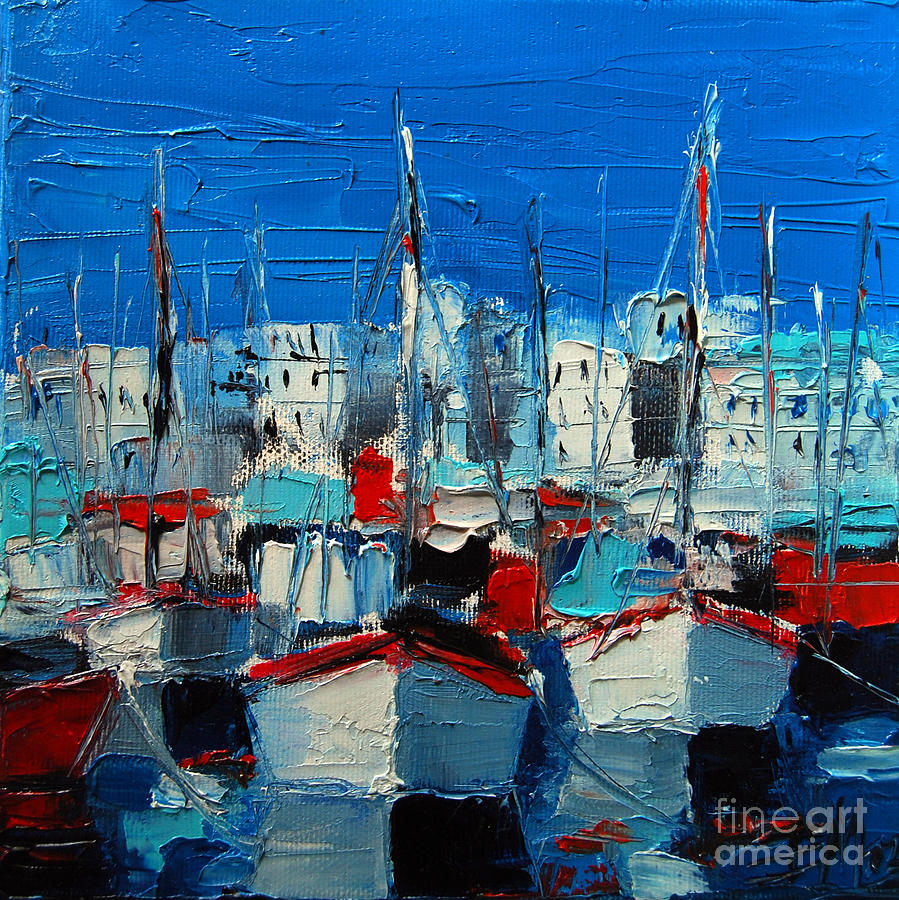 Little Harbor Painting - Little Harbor by Mona Edulesco
