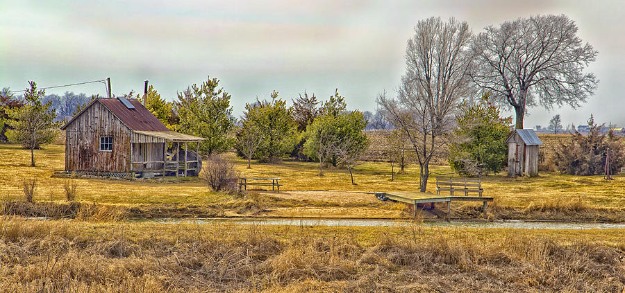 Grass Photograph - Little House On A Prairie by Bill Tiepelman