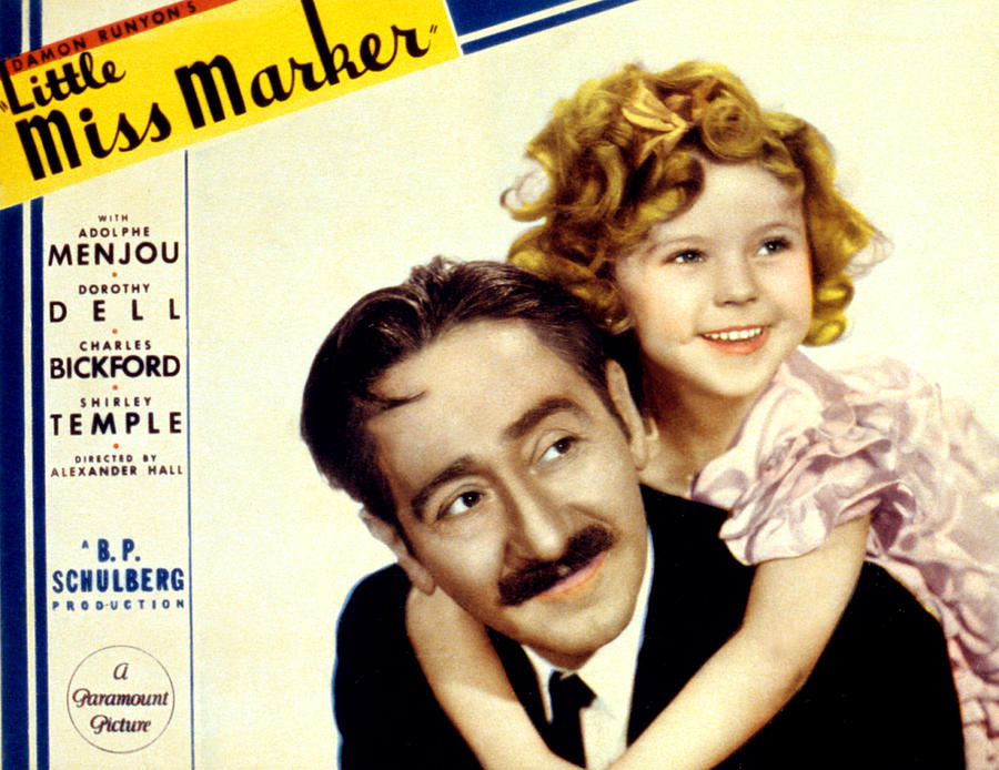 1930s Movies Photograph - Little Miss Marker, Adolphe Menjou by Everett