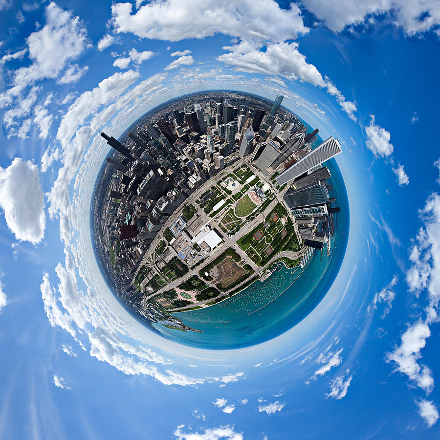 Little Planet Chicago by Robert Harshman