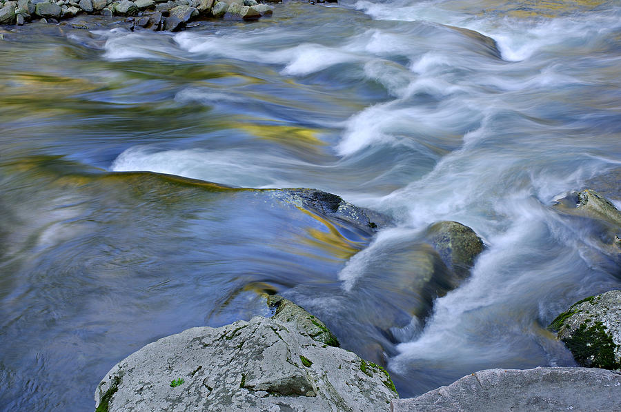 Blue Photograph - Little River Great Smoky Mountains by Dean Pennala