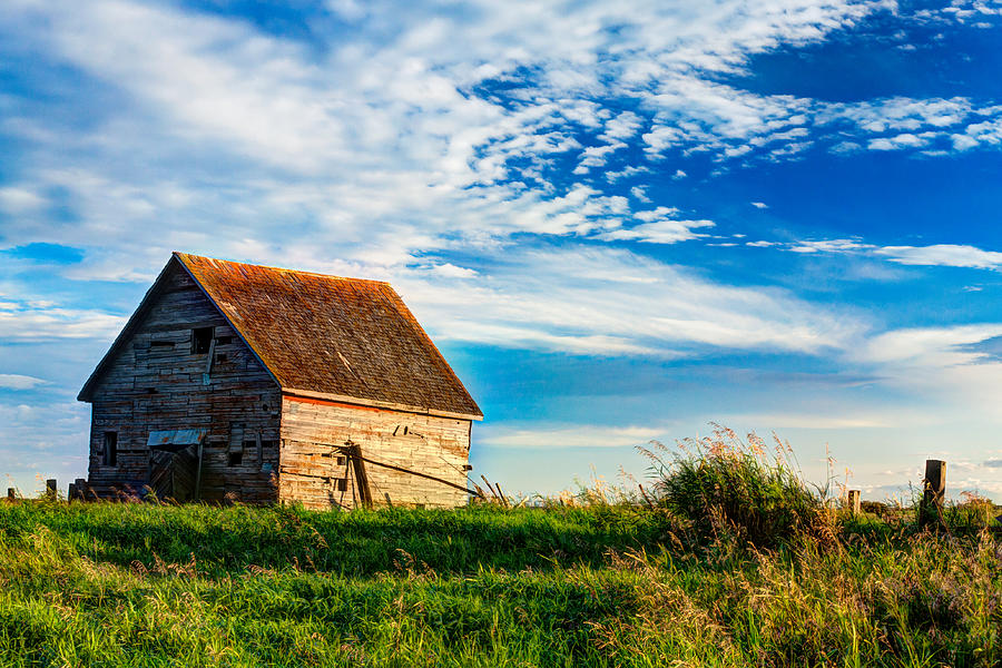 Abandoned Photograph - Little Shed On The Prairie by Matt Dobson