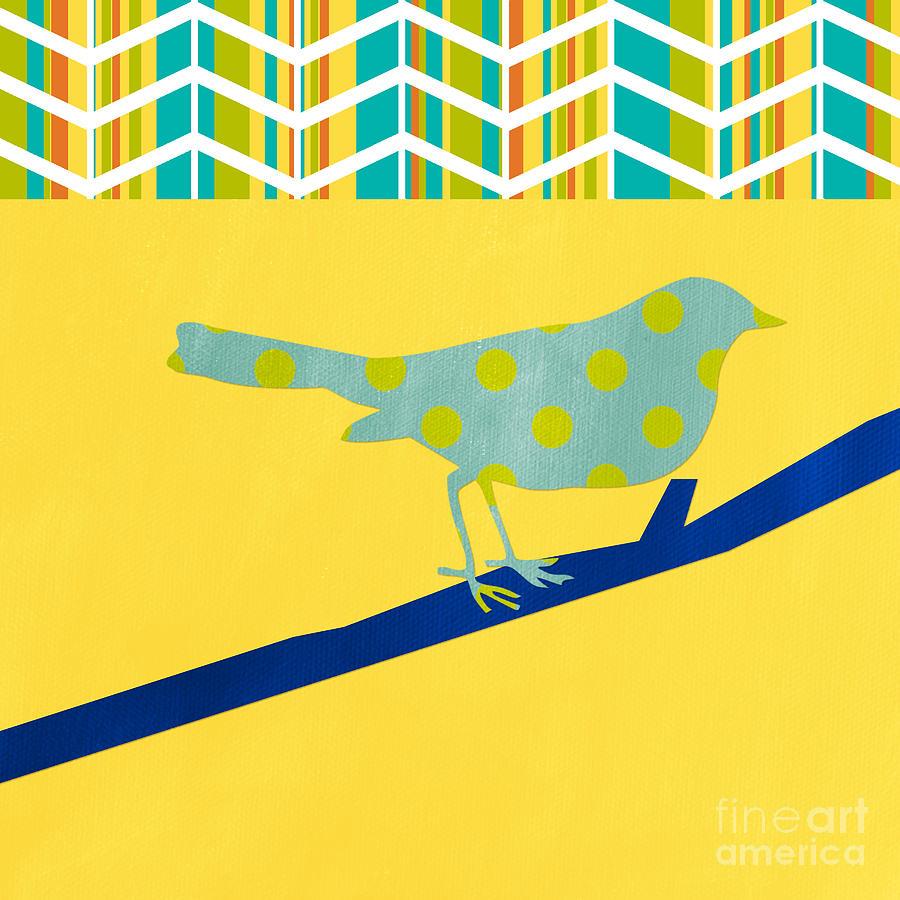 Bird Mixed Media - Little Song Bird by Linda Woods