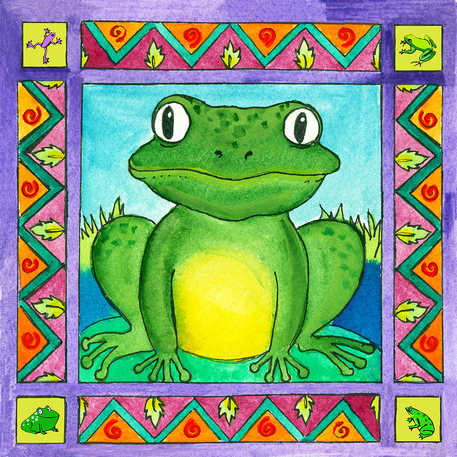 Toad Painting - Little Toad by Pamela  Corwin