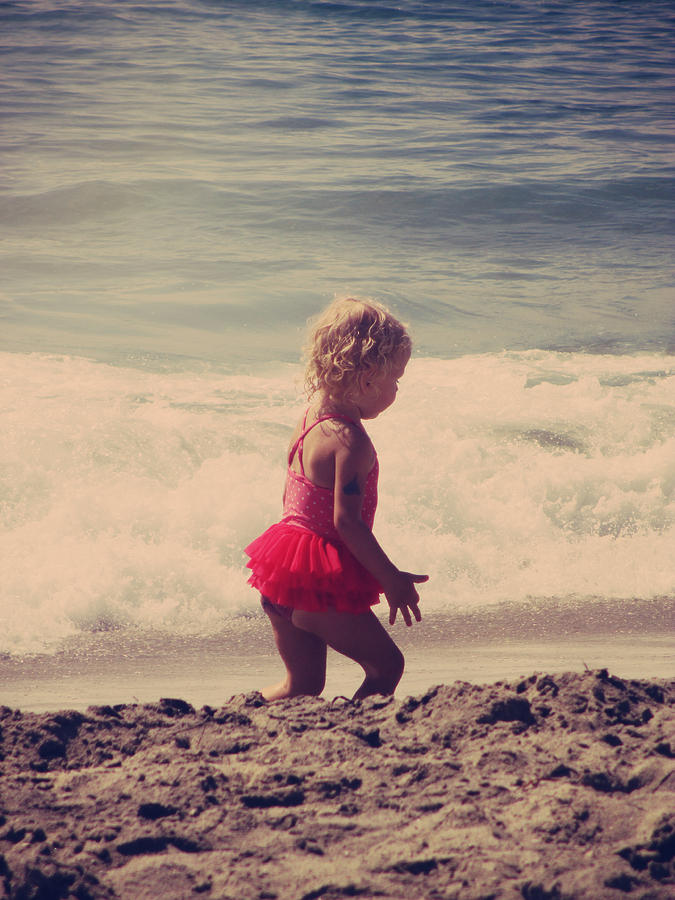 Beach Photograph - Little Tutu by Laurie Search