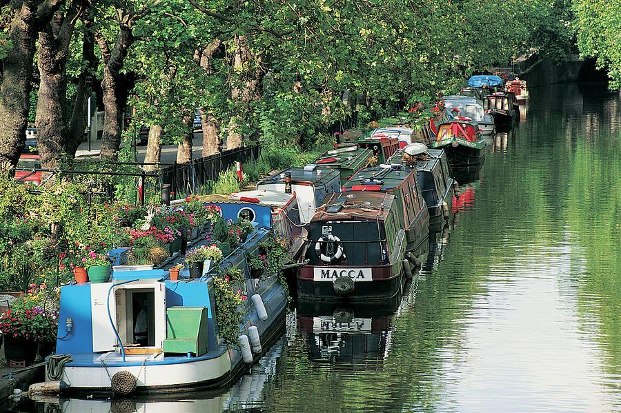 Horizontal Photograph - Little Venice, London, England by Keith Mcgregor