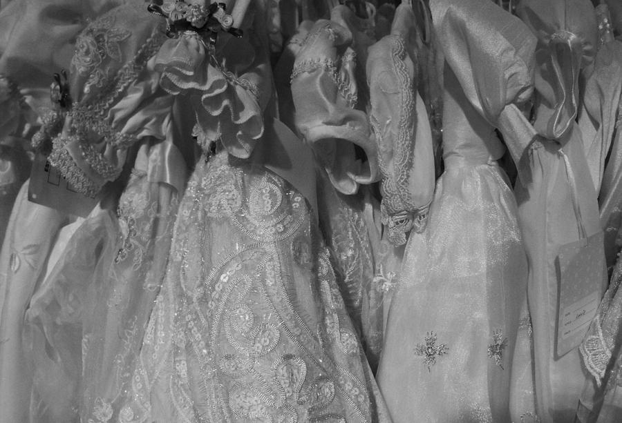 Dresses Photograph - Little White Dresses by Anna Villarreal Garbis