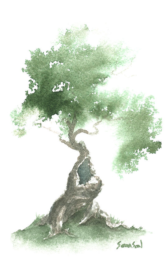 Little Zen Tree 676 Painting By Sean Seal