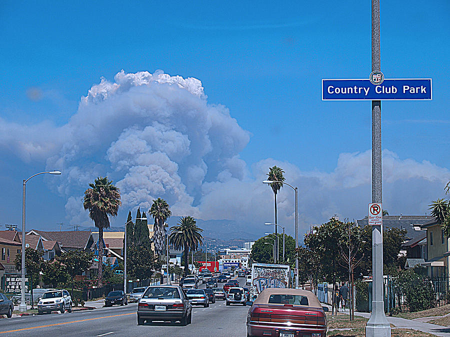 City Of Angels Photograph - Live Fire by D Wash