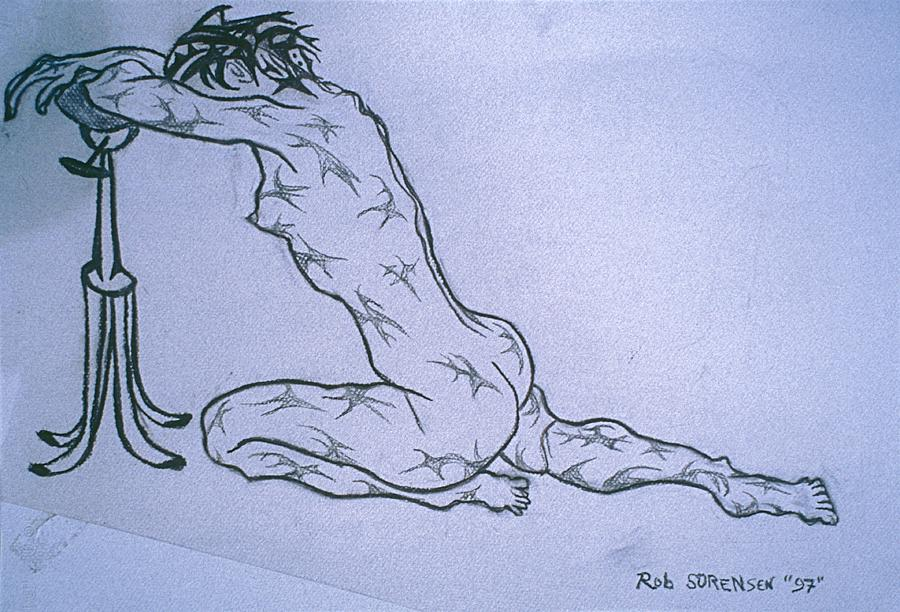 Live Nude Painting - Live Nude Female No. 51 by Robert SORENSEN