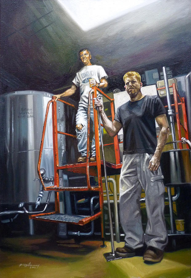 Beer Painting - Live Oak Brewing Company Austin Texas by Gregg Hinlicky