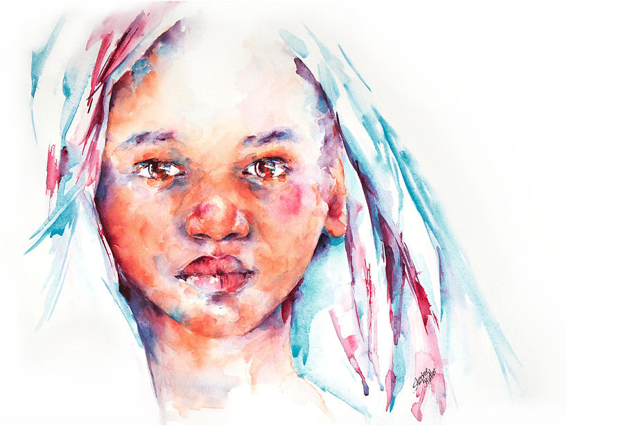 Portrait Painting - Live To Dream ... Children Of The World by Stephie Butler