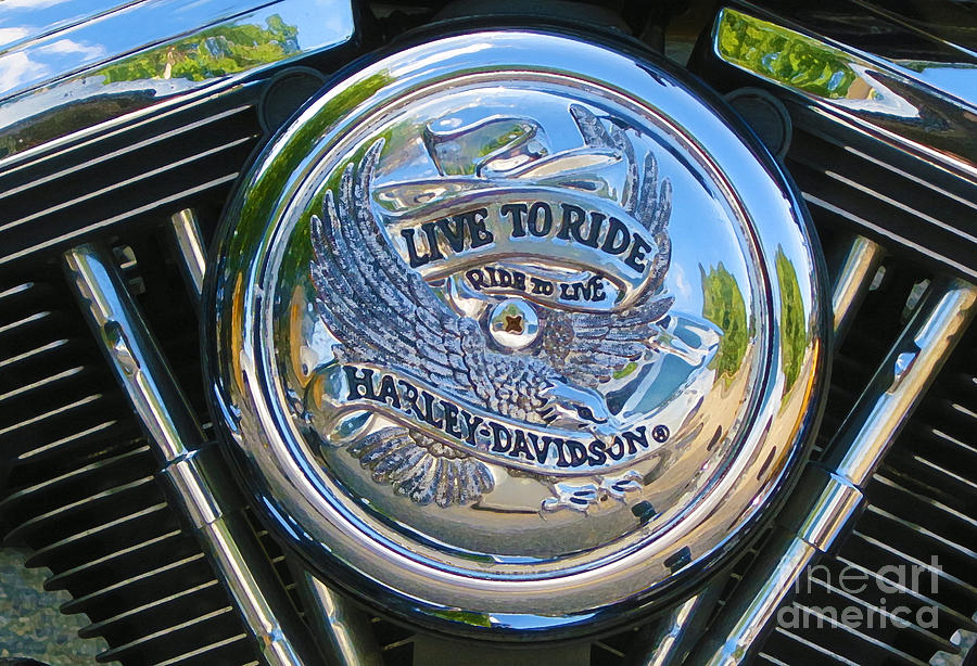 Motorcycle Photograph - Live To Ride by Patricia Januszkiewicz