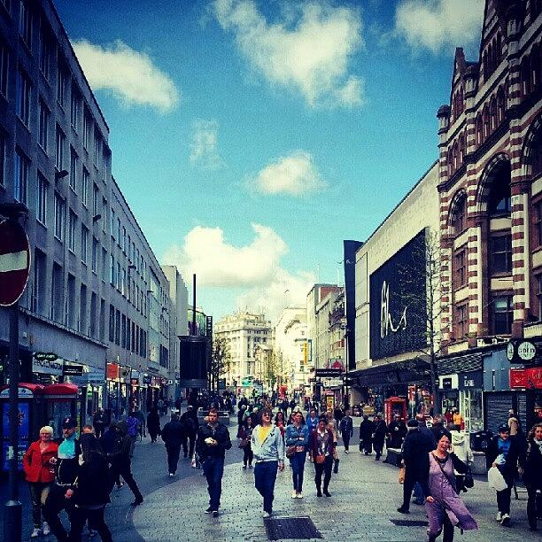 People Photograph - #liverpool #city #shopping #shops by Abdelrahman Alawwad