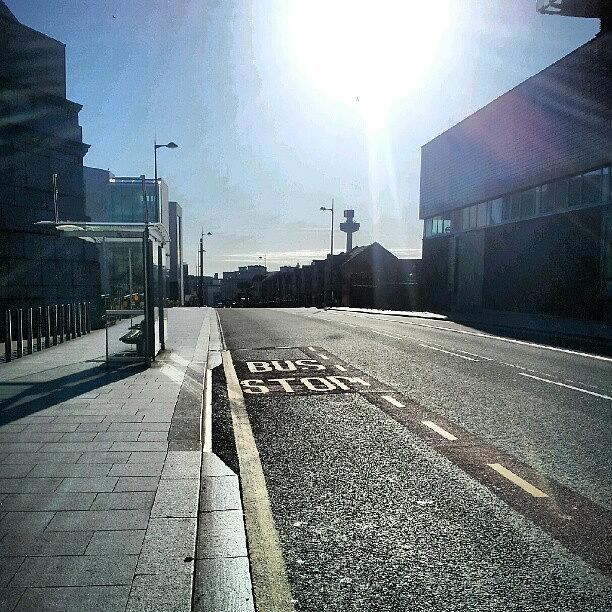 Liverpool Photograph - #liverpool #uk #england #bus #busstop by Abdelrahman Alawwad