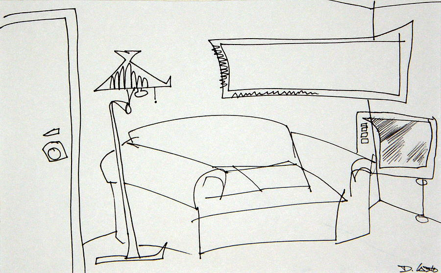 living room drawing by dennis casto. Black Bedroom Furniture Sets. Home Design Ideas