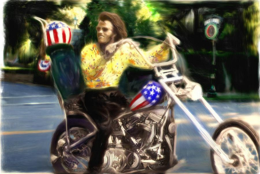 Peter Fonda Painting - Living The Dream by Michael Cleere