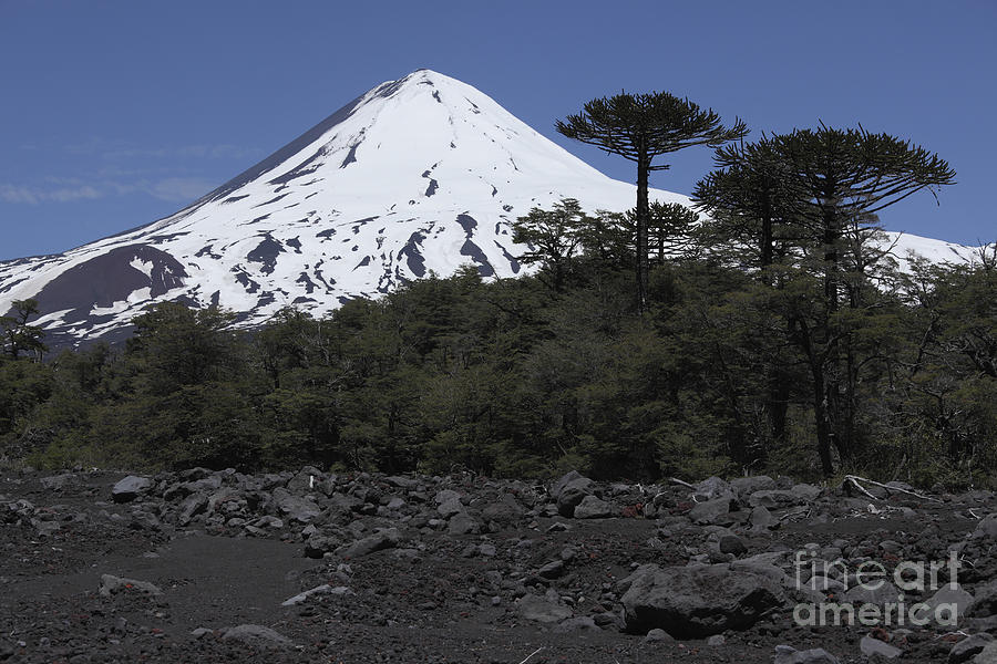 No People Photograph - Llaima Volcano, Araucania Region, Chile by Martin Rietze
