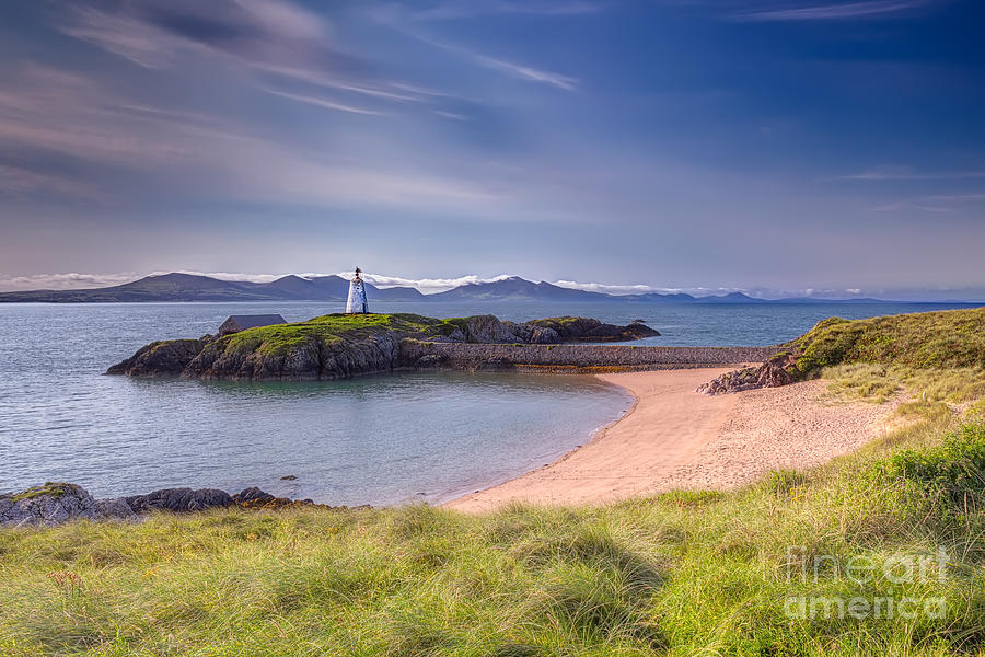 Beacon Photograph - Llanddwyn Beacon by Adrian Evans