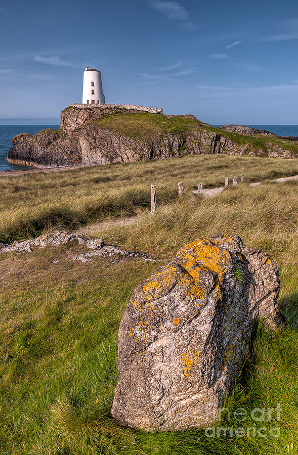 Anglesey Photograph - Llanddwyn Rock by Adrian Evans