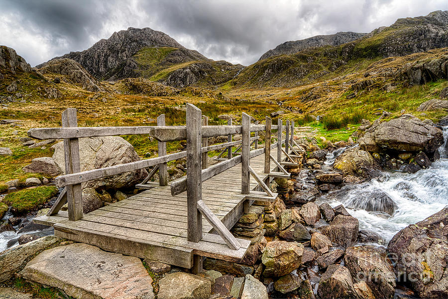 Bridge Photograph - Llyn Idwal Bridge by Adrian Evans