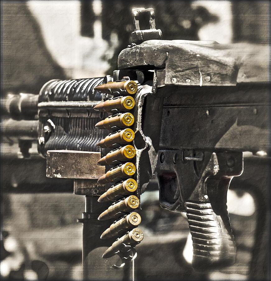 Machine Gun Photograph - Load Of Ambition by Gwyn Newcombe
