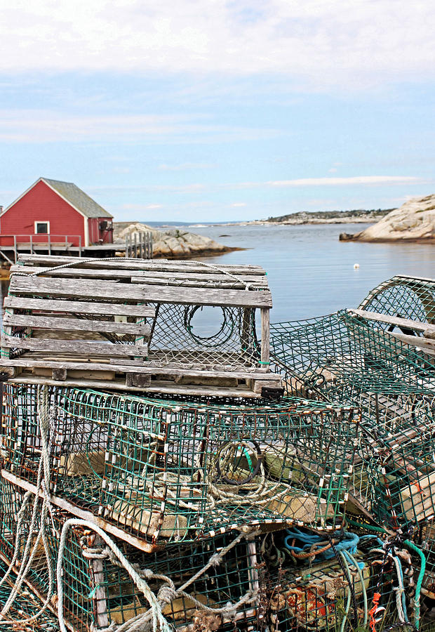 Lobster Photograph - Lobster Pots by Kristin Elmquist