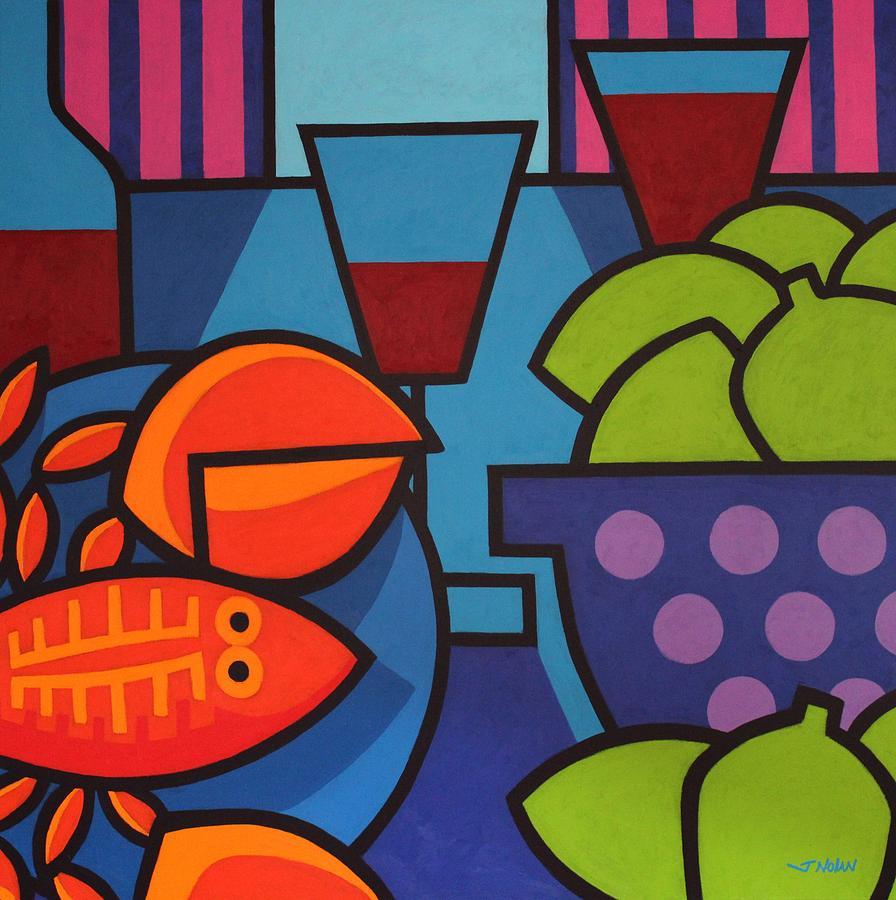 Restaurant Painting - Lobster Still Life by John  Nolan