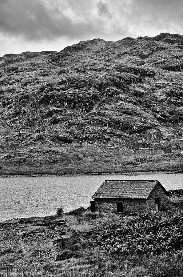 Loch Photograph - Loch Arklet Boathouse by Chris Thaxter
