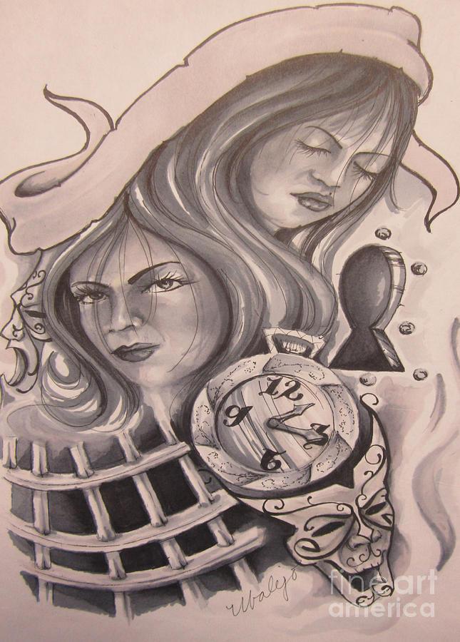 Locked Up Drawing By Mario Ubalejo