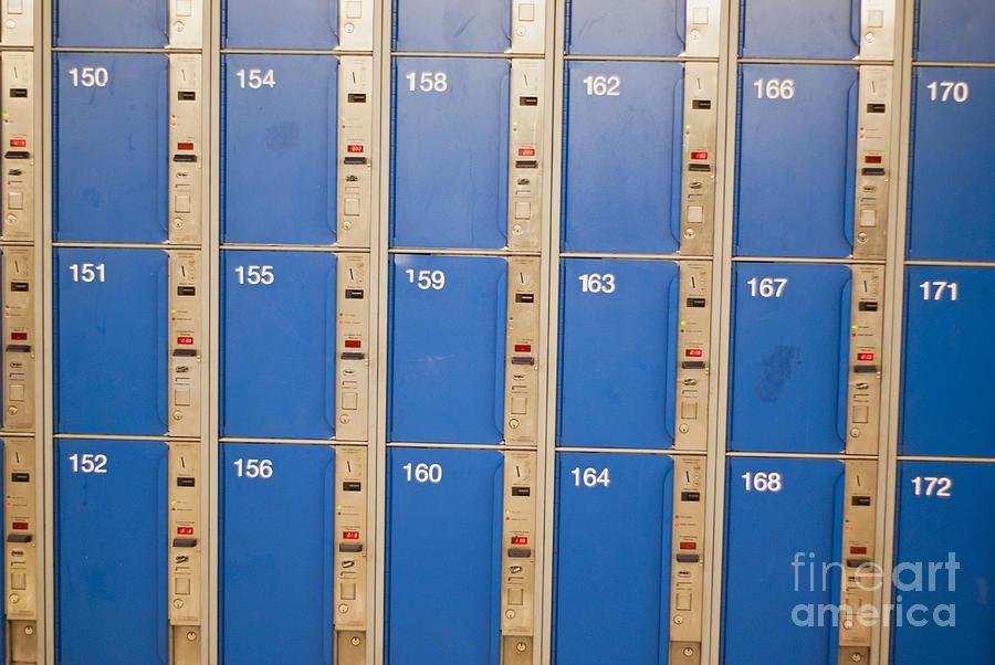Lockers Photograph - Lockers by Boris Suntsov