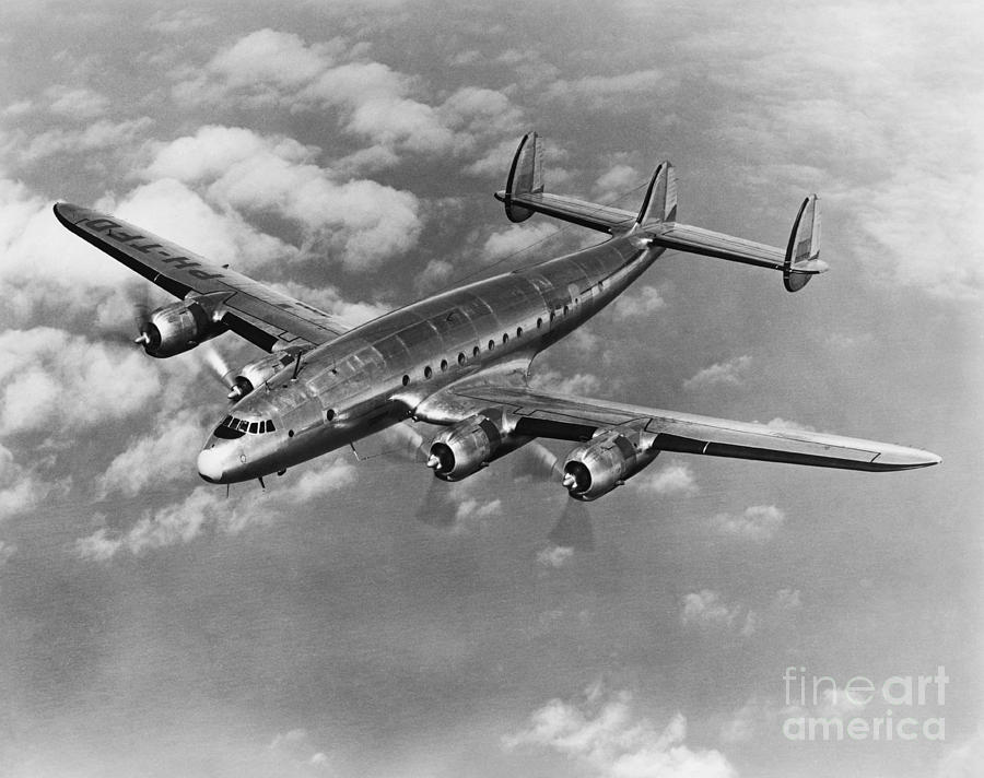 Historic Photograph - Lockheed Constellation by Photo Researchers