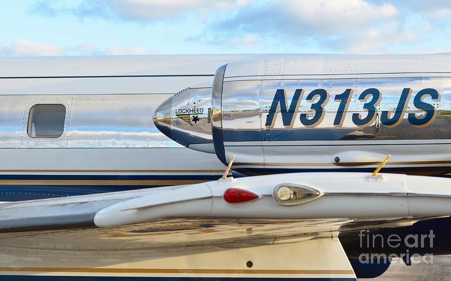 Lockheed Photograph - Lockheed Jet Star Engine by Lynda Dawson-Youngclaus