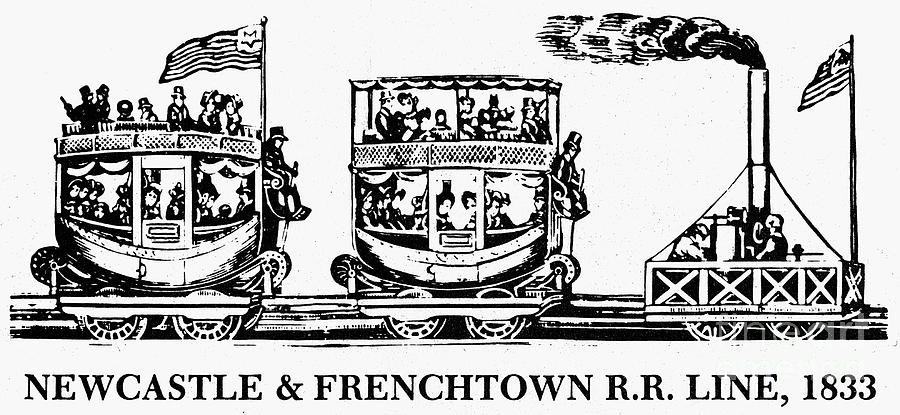 1833 Photograph - Locomotive, 1833 by Granger