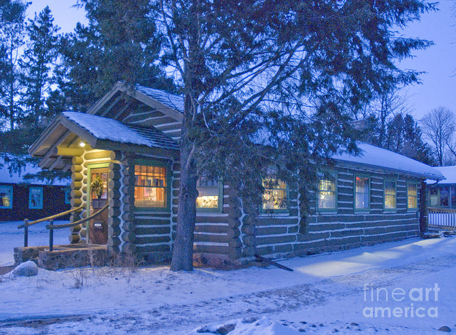 Log Photograph - Log Cabin Library 1 by Jim Wright