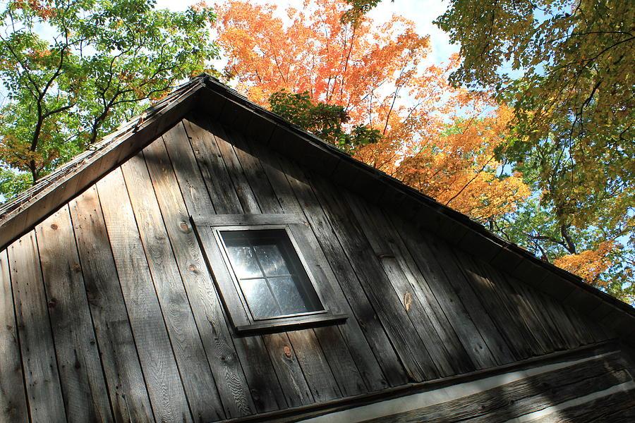 Cabin Photograph - Log Cabin by Sheryl Burns