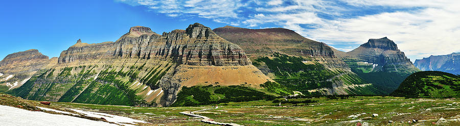 Glacier National Park Photograph - Logan Pass Panorama by Greg Norrell