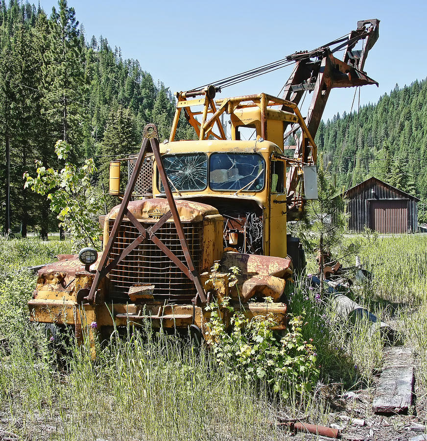 Truck Photograph - Logging Truck - Burke Idaho Ghost Town by Daniel Hagerman