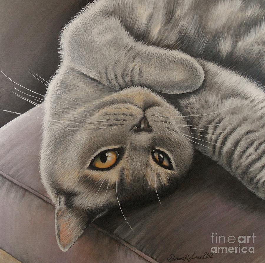 Cat Painting - lola by Dawn Jones